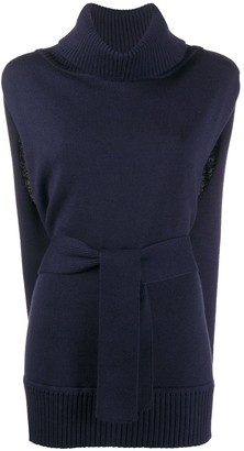 Societe Anonyme Belted Knitted Vest