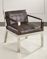 Bernhardt Yannick Leather Tufted Chair