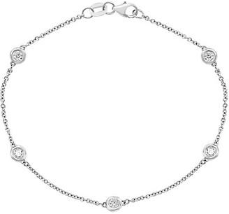 Effy 14K White Gold Diamond Station Bracelet