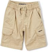 DKNY Khaki Flat-Front Cargo Shorts - Toddler & Boys