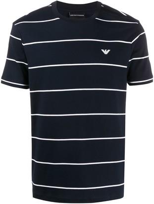 Emporio Armani striped print T-shirt