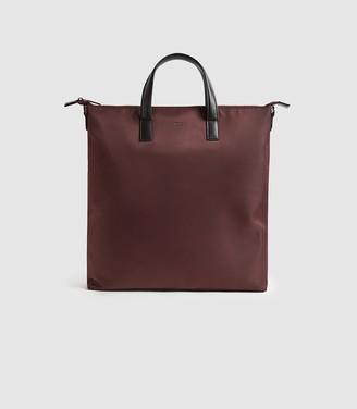 Reiss Carlton - Nylon Tote Bag in Bordeaux