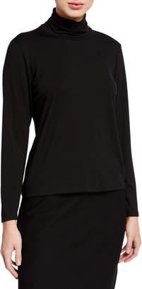 Eileen Fisher Long-Sleeve Scrunch Turtleneck Top