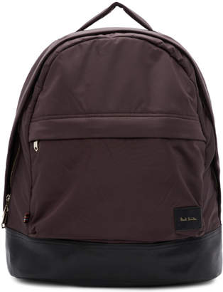 Paul Smith Burgundy Canvas Backpack