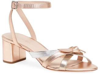 Loeffler Randall Anny Knotted Metallic Leather Sandals