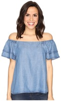 CATHERINE Catherine Malandrino - Tencel Off Shoulder Ruffle Sleeve Top Women's Clothing