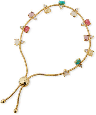 Tai Large Rainbow Cubic Zirconia Slider Bracelet