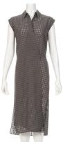 Alexander Wang Checkered Sleeveless Wrap Tie Dress