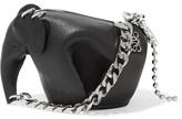 Loewe Punk Elephant Leather Keychain - Black