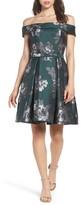Eliza J Petite Women's Off The Shoulder Jacquard Dress