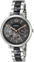 Fossil Women's ES3924 Analog Display Analog Quartz Silver-Tone Watch
