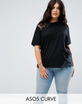 Asos T-Shirt with Cutwork Lace