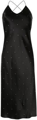 Mason by Michelle Mason Rhinestone-Embellished Strappy Dress