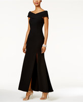 Betsy & Adam Off-The-Shoulder Gown