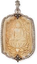 Armenta New World Champagne Diamond Buddha Pendant