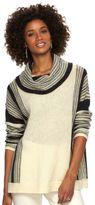 Chaps Women's Striped Cowlneck Sweater