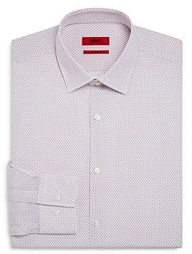 HUGO BOSS Dot Pattern Slim Fit Dress Shirt