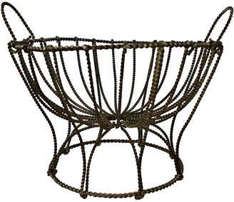 One Kings Lane Vintage French Pedestal Egg Basket