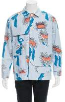 Julien David Printed Button-Up Jacket w/ Tags
