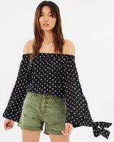 One Teaspoon Bonnie Ace Off-The-Shoulder Top