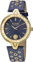 Versus By Versace Women's 'V Eyelet' Quartz Gold and Leather Casual Watch, Color: (Model: SCM110016)