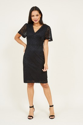 Yumi Black Lace Bodycon Dress