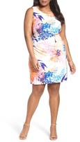 Ellen Tracy Plus Size Women's Floral Ponte Sheath Dress