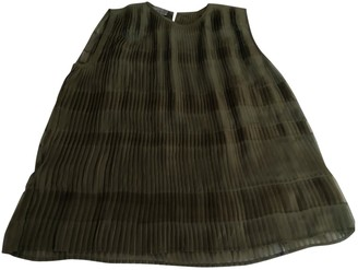 Roberta Furlanetto Khaki Silk Top for Women