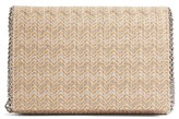Chelsea28 Stripe Straw Convertible Clutch - Metallic