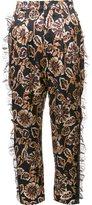 Rodarte floral print tulle detail tapered trousers - women - Silk/Viscose/Polyamide - 2