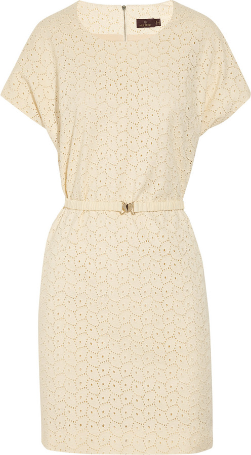 Mulberry Stretch-cotton broderie anglaise dress