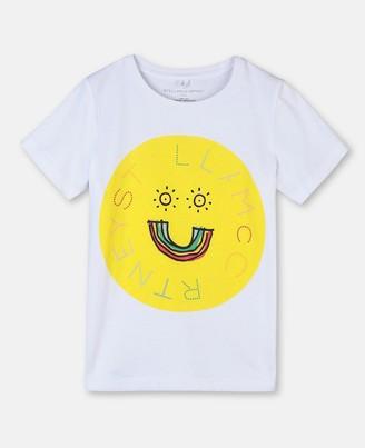 Stella McCartney logo & rainbow cotton t-shirt