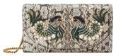 Gucci Broadway Genuine Snakeskin Shoulder Bag - Ivory