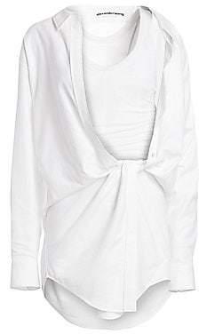 Alexander Wang Women's Falling Twist-Front Shirtdress