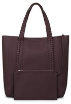 AllSaints Ray Leather Tote - Red