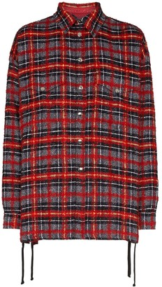 Faith Connexion Lace-Up Detail Plaid Shirt
