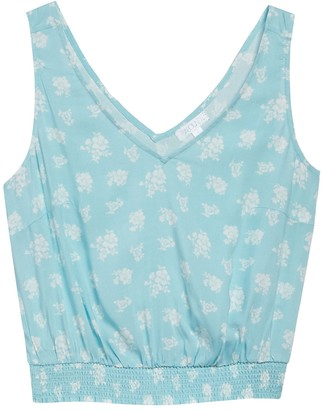 Abound Double V-Neck Smocked Tank Top