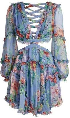 Zimmermann Bellitude Ruffle Cut-Out Dress
