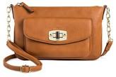 Merona Women's Faux Leather Crossbody Handbag Brown
