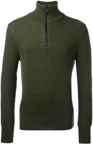 Ami Alexandre Mattiussi fisherman rib half zipped sweater - men - Virgin Wool - XS