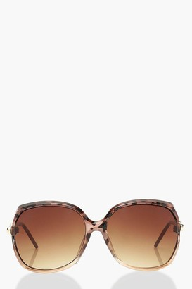 boohoo Tortoise Shell Detail Oversized Sunglasses