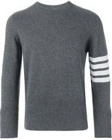 Thom Browne striped sleeve jumper - men - Cashmere - 0