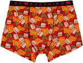 Yours Clothing BadRhino Red Burger & Fries 'King Size' Print Boxers