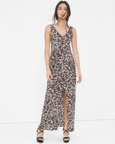 White House Black Market V-Neck Floral Print Maxi Dress