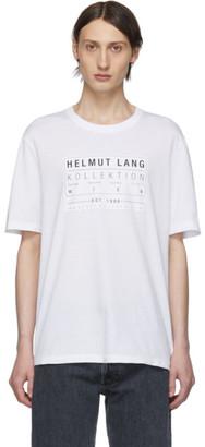 Helmut Lang White Logo Patch T-Shirt
