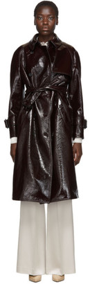 Joseph Burgundy Coated Felt Trench Coat