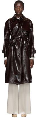 Joseph Burgundy Coated Felt Trench Coat