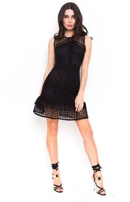 Candypants Outlet Black Crochet Frill Dress