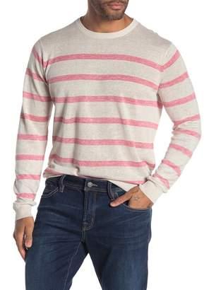 Tailor Vintage Sailor Stripe Linen Crew Neck Sweater