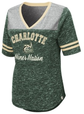 Colosseum Women's Charlotte 49ers Mr Big V-neck T-Shirt
